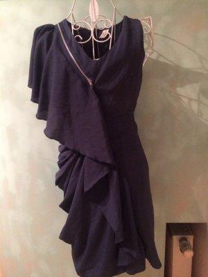 Object Vestido de un hombro azul oscuro