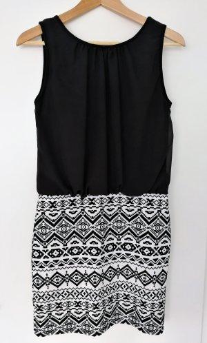 Apricot Mini-jurk zwart-wit Polyester