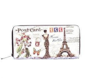 Schickes Portmonnaie im Vintage-Look -- Paris-Muster ***NEU mit ETIKETT***
