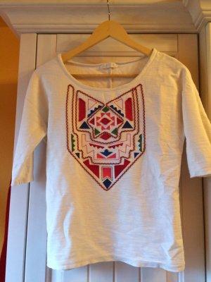 Schickes Promod Baumwoll-Shirt im Folklore Look