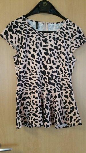 schickes Rosa farbiges Leoparden Oberteil XL