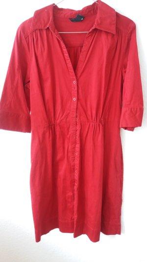 Schickes Rotes Hemdblusenkleid