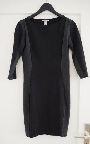 Schickes schwarz-graues Kleid