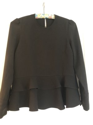 Zara Camicetta con arricciature nero