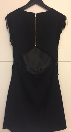 Mango Fringed Dress black