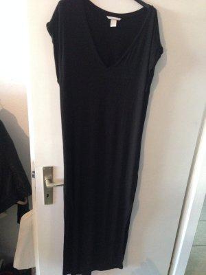 Schickes schwarzes langes Kleid