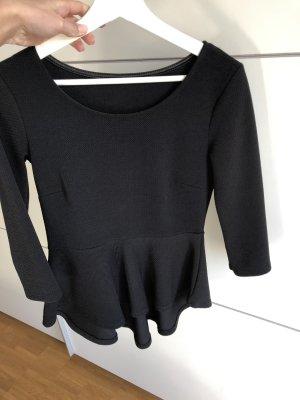 Gestreept shirt zwart