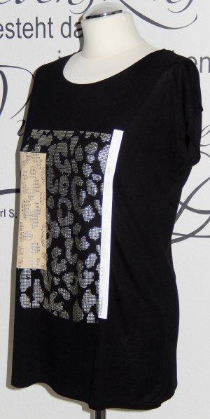Schickes Shirt mit goldenem Leo-Print (s.Oliver Black Label) - NEU!!