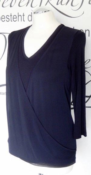 More & More Wikkelshirt donkerblauw Viscose