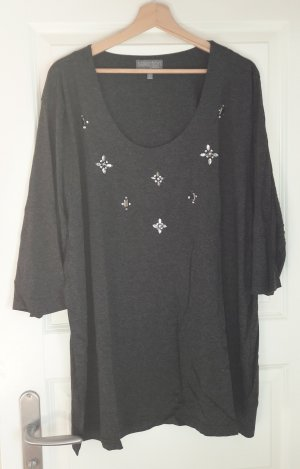 Selection by Ulla Popken Shirt Tunic anthracite mixture fibre