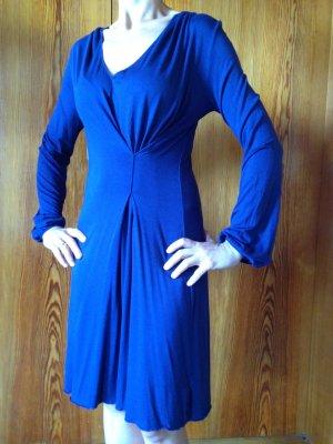 Schickes Sisley Kleid blau dunkelblau 34 XS