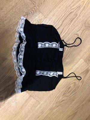 Zara Top stile impero nero-crema