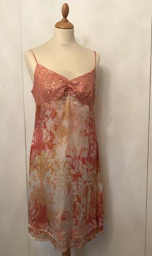 Schickes Sommerkleid aus Seide mit Palletten von Joyce & Girls, 36,38,40