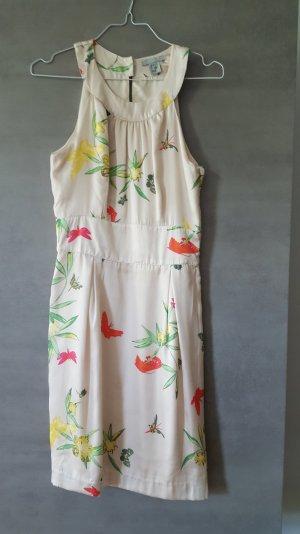 Schickes Sommerkleid beige gemusterst