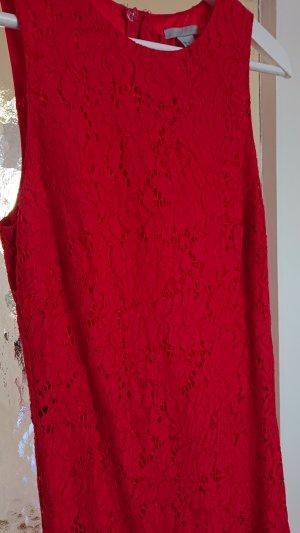 H&M Abito in pizzo rosso scuro-rosso mattone