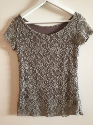 Camiseta lila grisáceo-beige