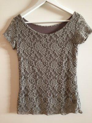 T-shirt grijs-lila-beige