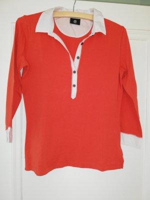 Schickes sportliches Shirt von BOGNER. Gr 40 rot weiss