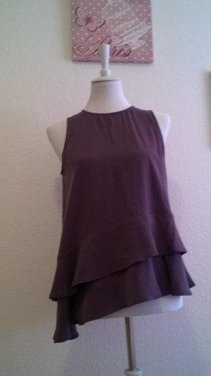Schickes Top lilafarbenes Top mit Volants / Sommertraum/ Classy /Chic
