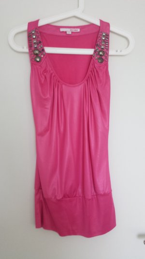 Schickes Top mit Metallapplikationen/ Partytop Pink