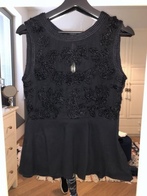 Zara Peplum Top black