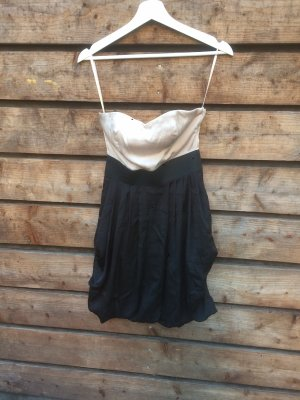 H&M Off the shoulder jurk nude-zwart