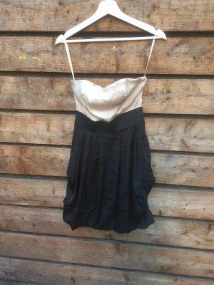 H&M Off-The-Shoulder Dress nude-black