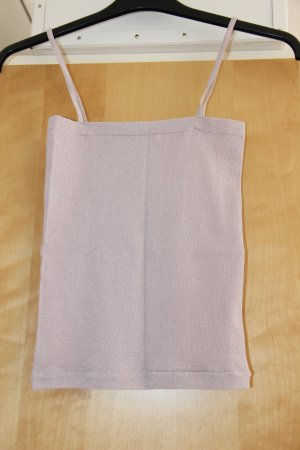 schickes Trägertop mit silbernen Glitzerfäden, Größe 34; Benetton