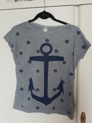 T-shirt grijs-donkerblauw