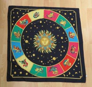 Neckerchief dark blue-gold-colored polyester