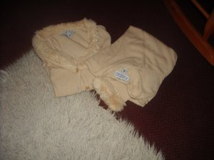 Knitted Twin Set cream mixture fibre