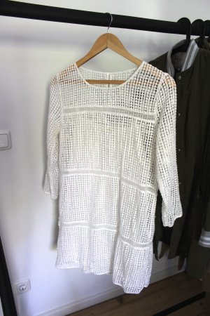 Mango Lace Dress white