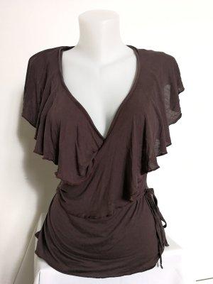 Wrap Wraparound Shirt brown
