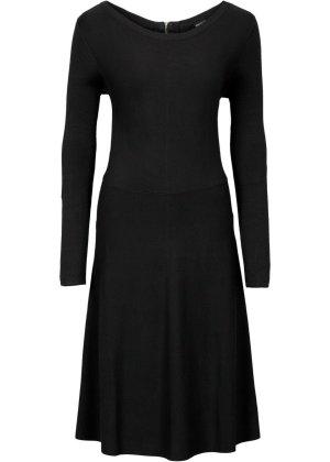 Bodyflirt Gebreide jurk zwart Viscose