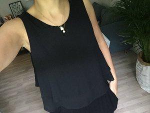 schickes Zara Basic Top schwarz