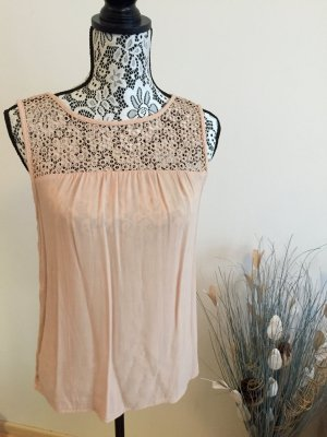 Zara Lace Top dusky pink