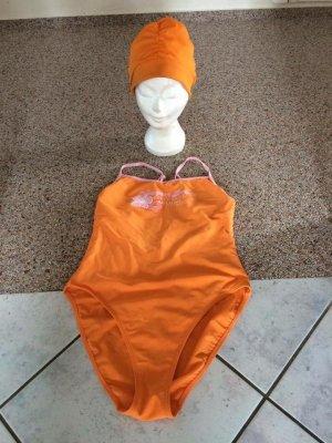 SCHIESSER Badeanzug in Gr. XL (42) mit passender Badekappe *NEU*