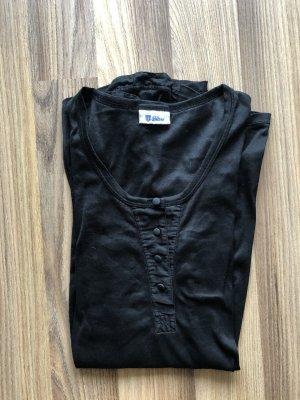 Schiesser Long Shirt black cotton
