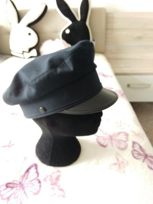 Chapeau feutre bleu-bleu foncé