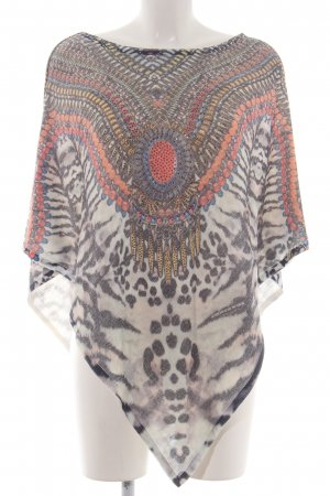 Schiffhauer Knitted Poncho graphic pattern casual look