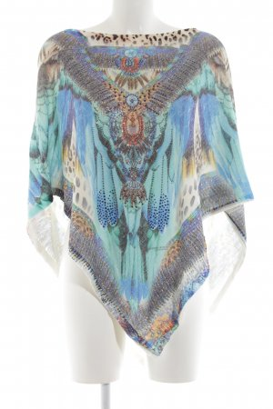 Schiffhauer Knitted Poncho abstract pattern casual look