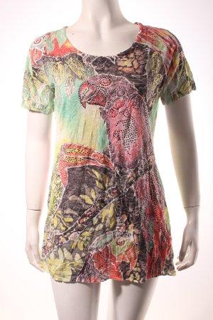 Schiffhauer T-Shirt abstraktes Muster extravaganter Stil