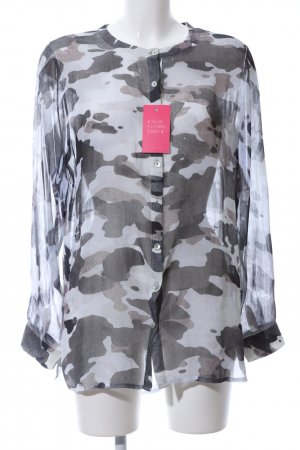 Schiffhauer Transparenz-Bluse abstraktes Muster Casual-Look
