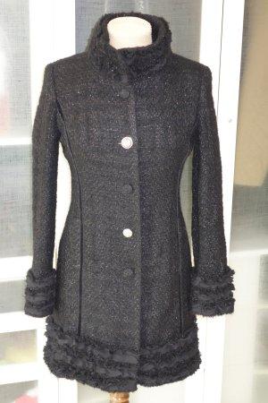 SCHIFFHAUER x CHRISTINE NEUBAUER Tweed Mantel mit Details Gr.36