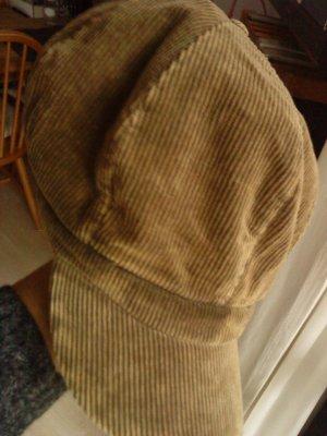 Visor Cap light brown-brown cotton