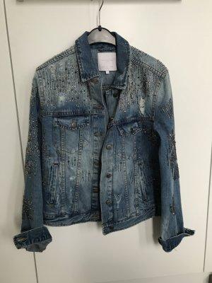 Schillernde Jeansjacke