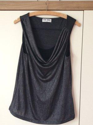 Vero Moda Cowl-Neck Top black-silver-colored
