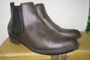 schimmernde Ankle Boots Stiefeletten