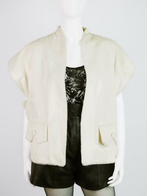Fur vest cream fake fur