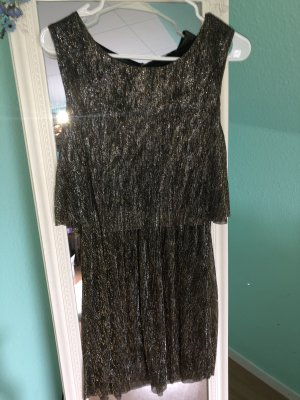 Only Cocktail Dress black-gold-colored